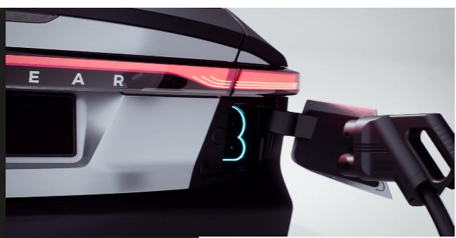 支援傳統插電方式,可快速充電(圖片:Lightyear)