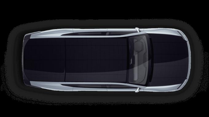 由上往下看,黑色的太陽能面板幾乎覆蓋全車(圖片:Lightyear)