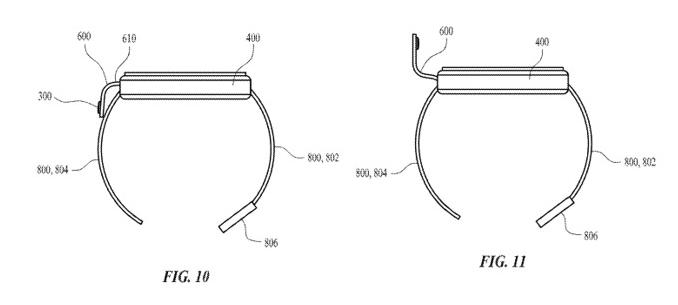 蘋果擬在 Apple Watch 錶帶上安裝相機 (圖片:appleinsider)