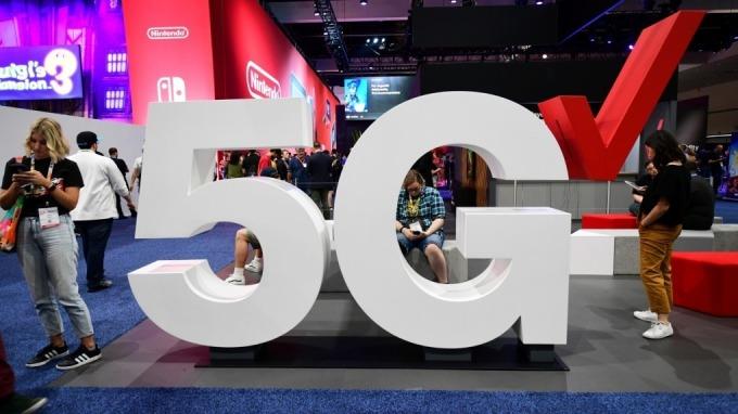 台灣大將前進上海MWC,展示5G成果。(圖:AFP)