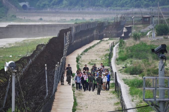 南北韓非軍事區。(圖片:AFP)