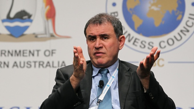 「末日博士」羅比尼認為,區塊鏈技術被過度炒作。(圖片:AFP)