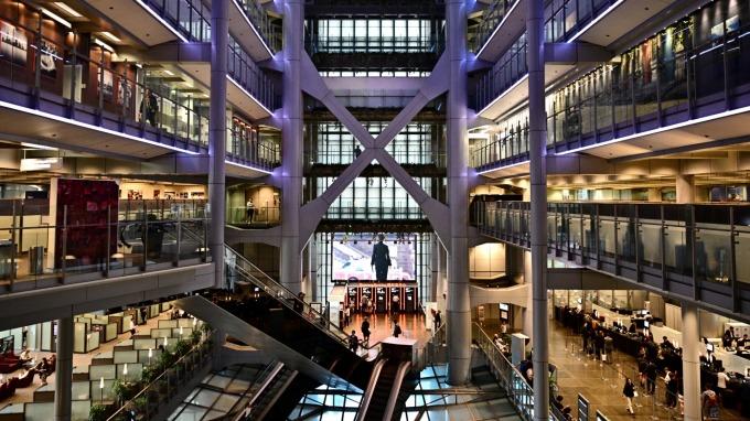 香港匯豐銀行將面對網銀的競爭(圖片:AFP)