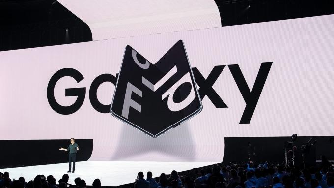 三星折疊手機Galaxy Fold。(圖:AFP)