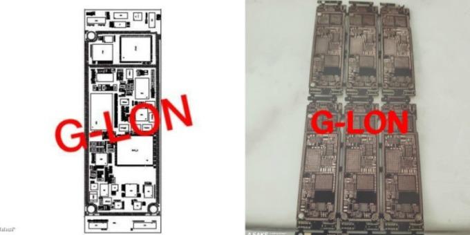 新 iPhone 主機板寬度最小化,為方形鏡頭模組改良設計,並為了左側更大的電池騰出空間 (圖片:翻攝自 OnLeaks 與 9to5mac)
