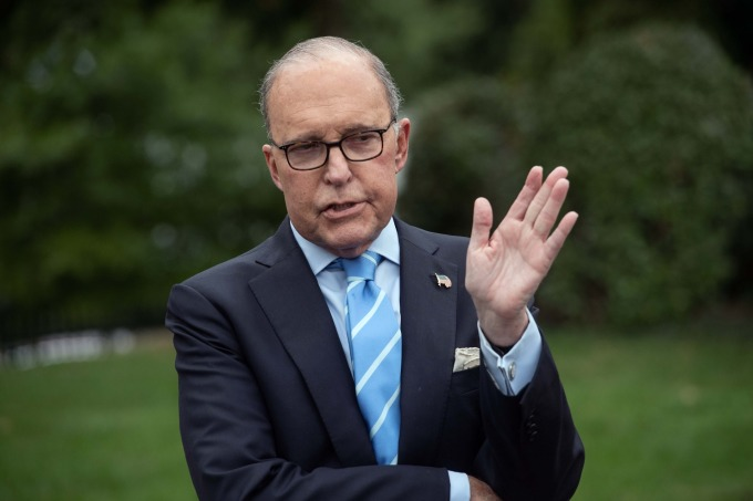 白宮經濟顧問庫德洛透露,美中會談進展順利並具有建設性。 (圖片:AFP)