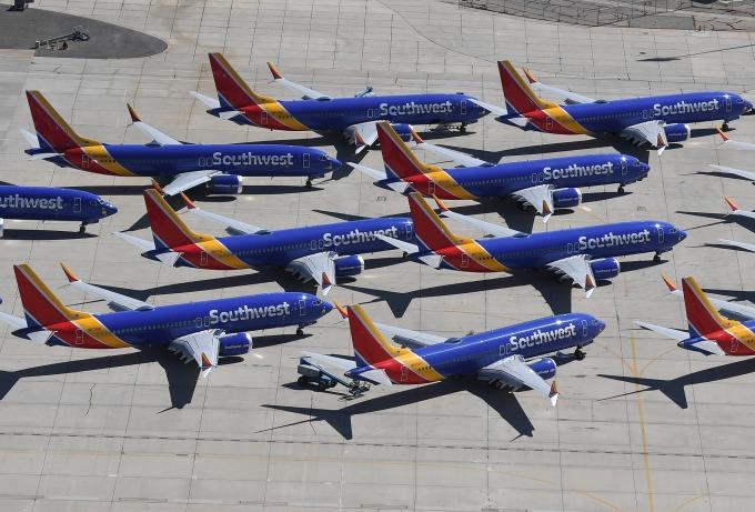 全球超過 150 架勒令停飛的 MAX 客機閒置在全美各地機場 (圖片: AFP)