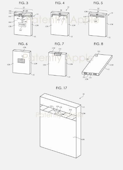 蘋果 iDevice 毫米波天線裝置透視圖 (圖片: 翻攝自 Patently Apple)
