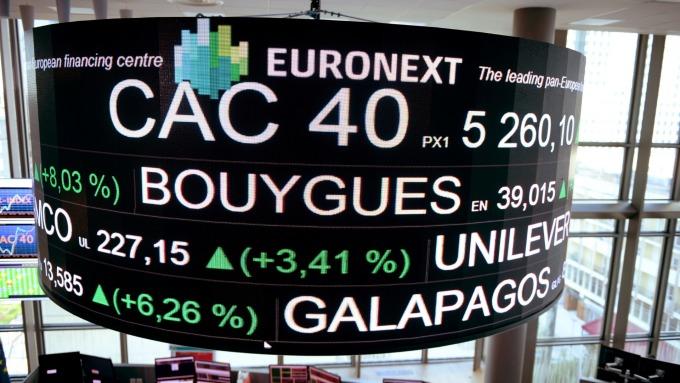 週一歐股盤前,指數期貨走揚。(圖片:AFP)