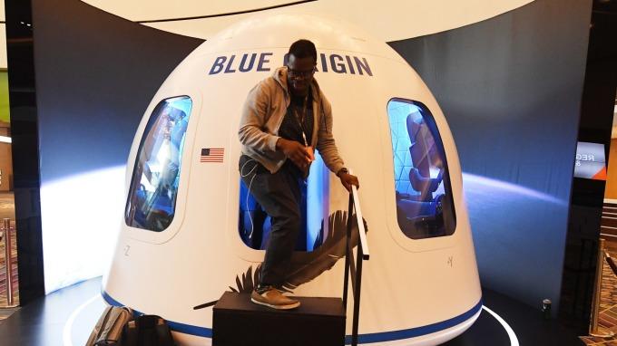 藍色起源公司的太空發射器(圖片:AFP)
