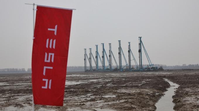 1月建廠9月試產?特斯拉上海工廠飆速(圖片:AFP)