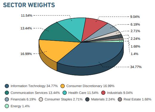 MSCI美國大型企業成長股指數產業權重(圖:MSCI公開說明書)