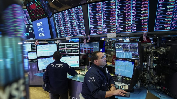 美股盤中─微軟獲利佳 股價創新高 支撑了道瓊指數上揚 (圖片:AFP)