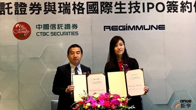 左為瑞格董事長小須田健三,右為中信業務部長曾珮琪。(鉅亨網記者沈筱禎攝)