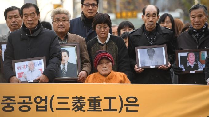 日韓關係雪上加霜!三菱重工在南韓資產遭申請變賣。(圖片:AFP)
