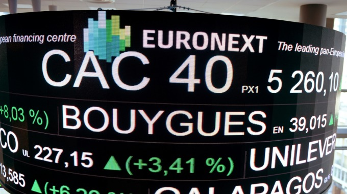 週二歐股盤前,指數期貨走揚。(圖片:AFP)