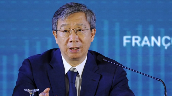 中國人民銀行行長易綱。(圖片:AFP)