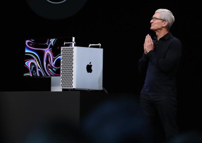 外媒此前報導,隨著美中貿易戰升溫,蘋果唯一百分百美國製造的 Mac Pro 也正轉向中國製造。(圖片:AFP)