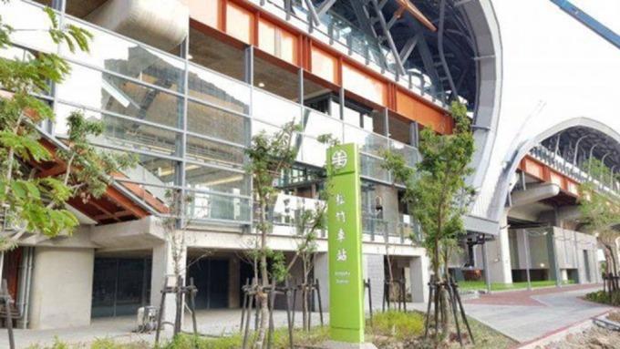 捷運綠線與台鐵雙鐵共構的「松竹站」附近新成屋房價傳漲升。(圖:業者提供)