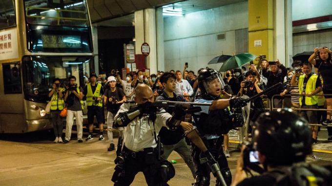 中國砲轟美國,涉嫌介入香港反送中事件。 (圖片:AFP)