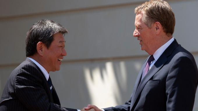 美中貿易談不攏 美日則可望加速貿易談判 (圖片:AFP)