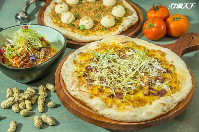 金桔與鴨賞加上大份量的蒜,讓這款 Pizza 好宜蘭、好好吃。