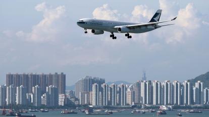 搭機注意!香港805罷工 台港往返今日取消52航班。(圖:AFP)