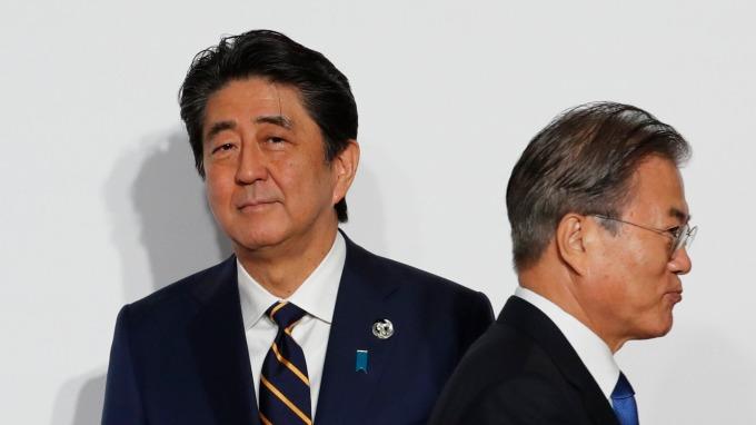 日本正式公告將南韓自白色名單除名!8月28日生效。(圖片:AFP)
