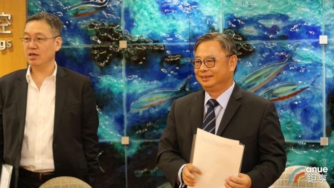 永豐金總經理朱士廷(右)、永豐銀總經理莊銘福(左)。(鉅亨網記者郭幸宜攝)