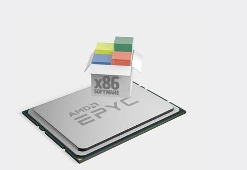 第二代 EPYC 伺服器處理器號稱世上最強 X86 處理器。 (圖片:AFP)