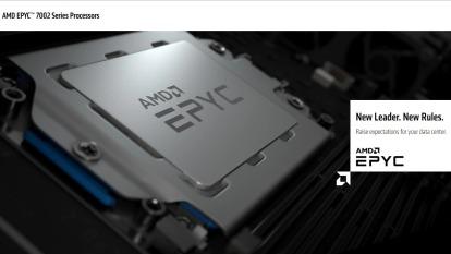 AMD 推出世上最強的 X86 處理器 - 第二代 EPYC 處理器。(圖片:翻攝 AMD 官網)