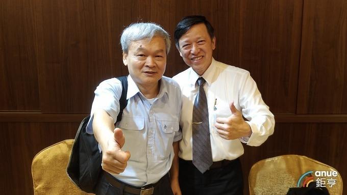 中鴻董事長韓義忠(左)及行政副總經理暨發言人羅嘉文(右)。(鉅亨網資料照)