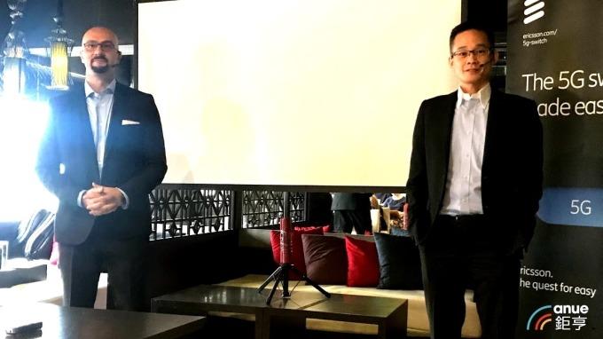 左為愛立信總經理藍尚立,右為網路部資深協理馮家輝。(鉅亨網記者沈筱禎攝)
