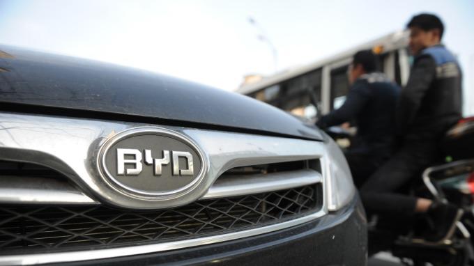 中國新能源車銷量翻盤、出現2年多來首度下滑。(圖片:AFP)