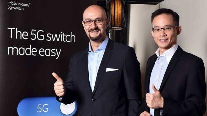 左為愛立信總經理藍尚立,右為網路部資深協理馮家輝。(圖:愛立信提供)