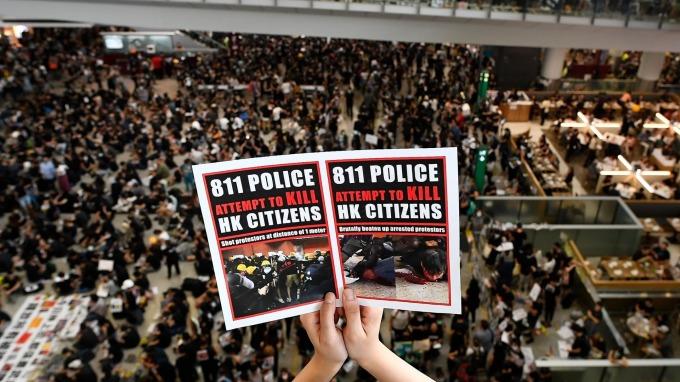 陸外交部嗆美方:勿煽風點火、插手香港事務。(圖片:AFP)