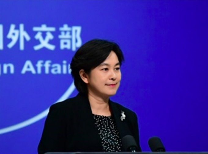 中國外交部發言人華春瑩 (圖片:翻攝中國外交部)