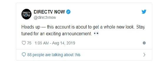 DirecTV Now 近期於推特上的推文 (圖片: 9to5mac.com)