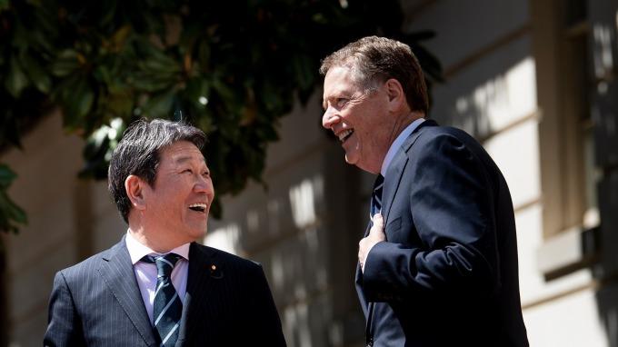 美日將搶在G7前、舉行部長級貿易談判。(資料照片) (圖片:AFP)