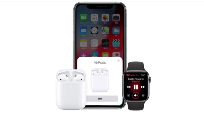 蘋果AirPods和Apple Watch(圖片:蘋果官網)