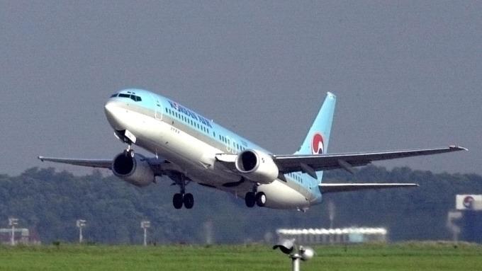 日韓航線冷、大韓航空大砍航班。(圖片:AFP)