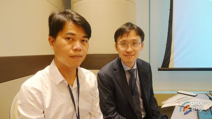 力達財務長黃孕祥(左)及總經理特助關上傑。(鉅亨網記者張欽發攝)
