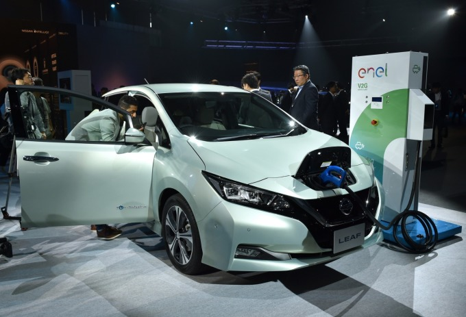日產 LEAF 電動車 (圖片:AFP)