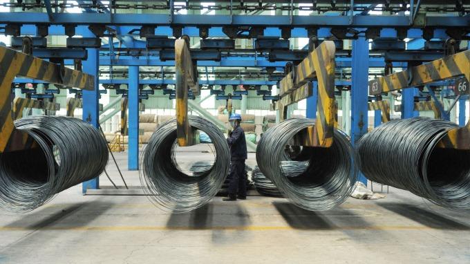 中國8月製造業PMI低於預期 連四個月下滑(圖片:AFP)