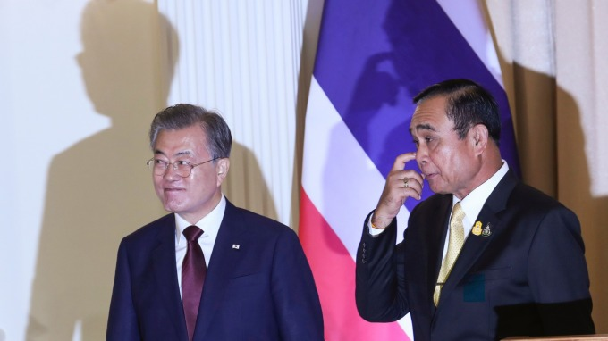 對付日本新手段 韓國與泰國簽署軍事情報合作備忘錄 (圖片:AFP)