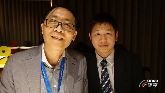 牧德科技董事長汪光夏(左)及總經理陳復生。(鉅亨網記者張欽發攝)