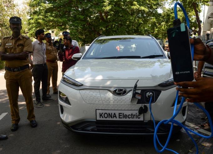 現代 Kona EV (圖片:AFP)