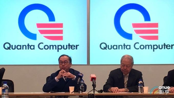 廣達董事長林百里(左)、副董事長梁次震(右)。(鉅亨網資料照)