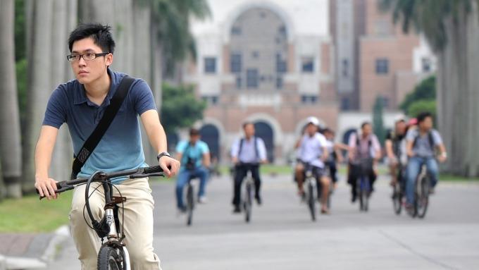 全球最佳大學,台大排名躍升至第120名,史上第2高。(圖:AFP)