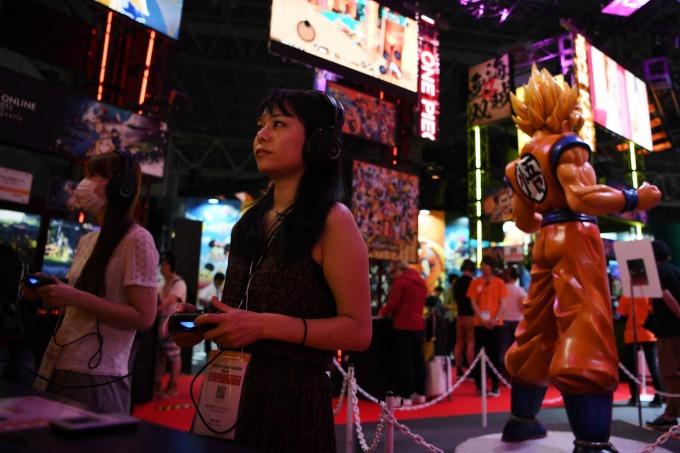 〈鉅亨看世界〉東京電玩展瘋 5G!(圖片:AFP)